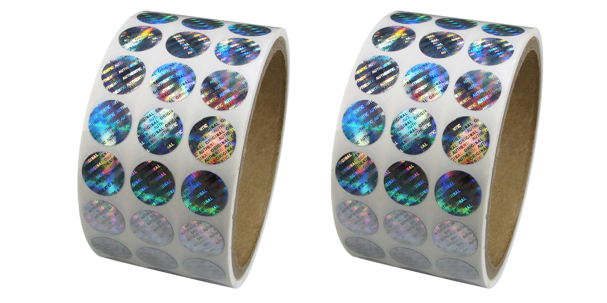 Holographic stickers available in any shape